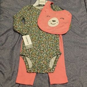 Carter's Baby Girl Size 9 months NWT 3 pc set NEW